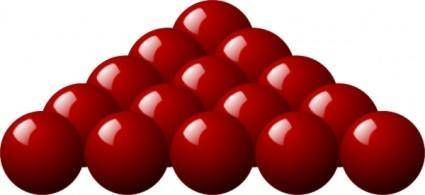 Stellaris Red Snooker Balls clip art