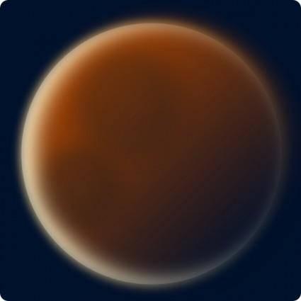 free vector Stellaris Red Planet clip art