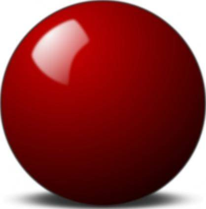free vector Stellaris Red Snooker Ball clip art