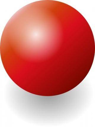 Red Shiney Ball clip art
