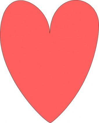 Red Pink Heart clip art