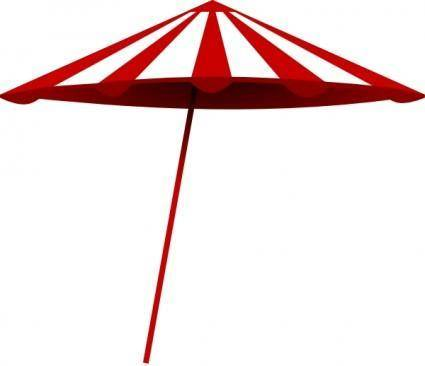 free vector Tomk Red White Umbrella clip art