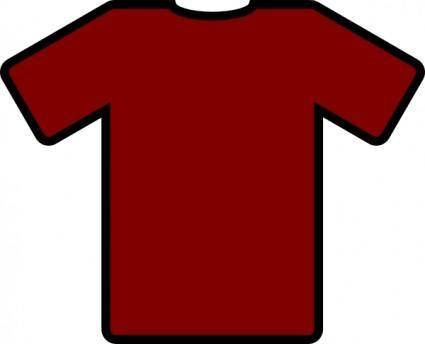 free vector Red Tshirt clip art