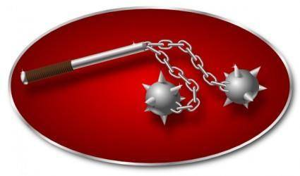 free vector Morning Star Weapon clip art