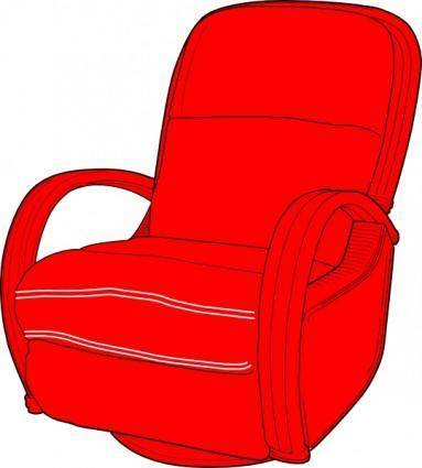 Lounge Chair Red clip art