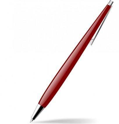 Red Glossy Pen clip art