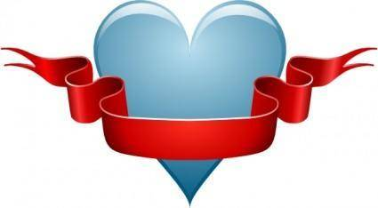 Heart Ribbon clip art