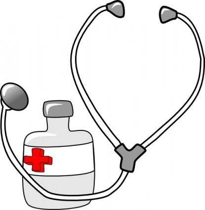 Metalmarious Medicine And A Stethoscope clip art