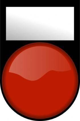 free vector Fatboy Voyant Rouge Eteint Red Light Off clip art