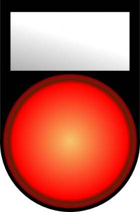 free vector Fatboy Voyant Rouge Allume Red Light On clip art