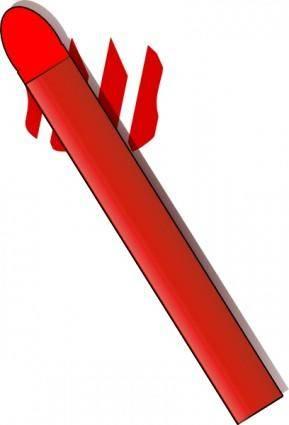 free vector Red Pastel Crayon clip art
