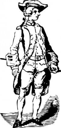 Soldier Historic Cothing clip art