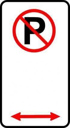 free vector No Parking Zone clip art