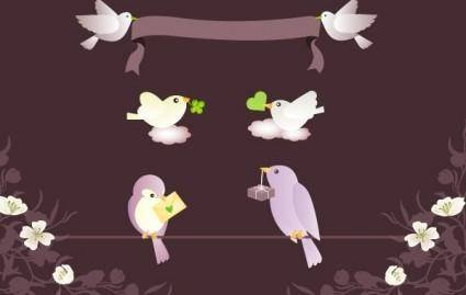 Birds Messages Vector Graphics