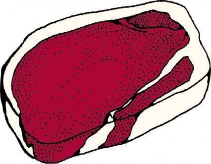 free vector Top Round Steak clip art