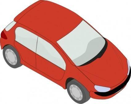 Red Peugeot clip art