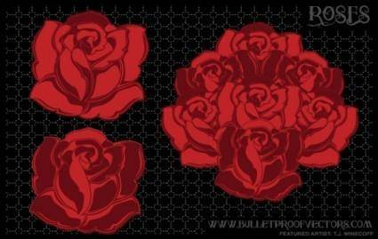 free vector Tattoo roses