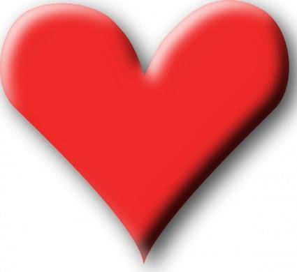 free vector Red Heart Valentine clip art