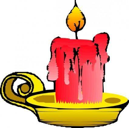 Red Candle clip art
