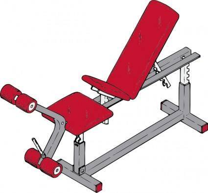 free vector Exercise Bench clip art