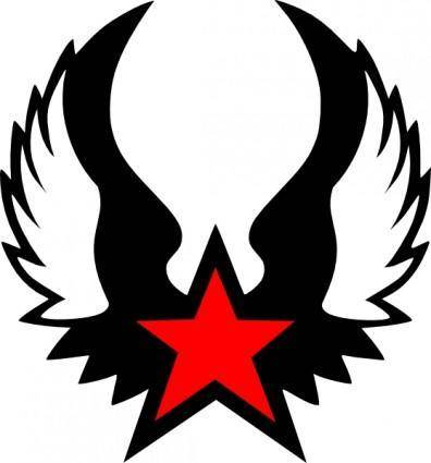 Red Winged Star clip art