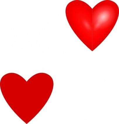 free vector Love Hearts clip art