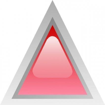 Led Triangular 1 (red) clip art
