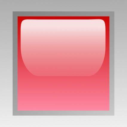 Led Square (red) clip art