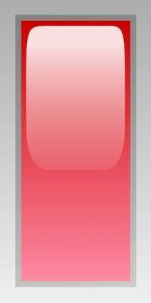 free vector Led Rectangular V (red) clip art