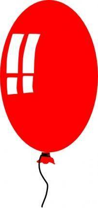 Red Helium Baloon clip art
