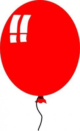 Red Baloon Helium Party clip art