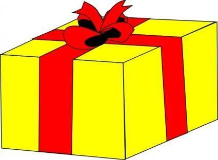 Yellow Gift clip art