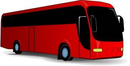 Red Travel Bus clip art