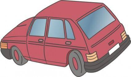 Red Car Hatchback clip art