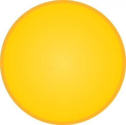 free vector Gold Circle clip art
