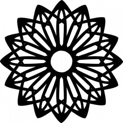 free vector Rosette Geometric Shape clip art