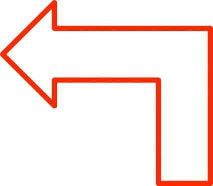 free vector L Shaped Arrow Set clip art