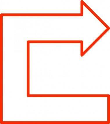U Shaped Arrow Set clip art