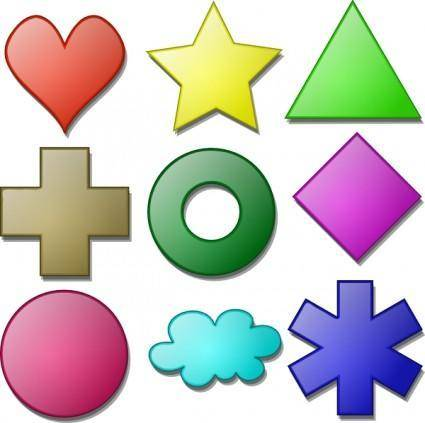 Game Marbles Shapes clip art