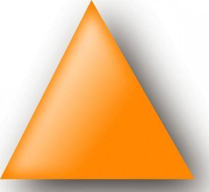 free vector Orange Triangle clip art