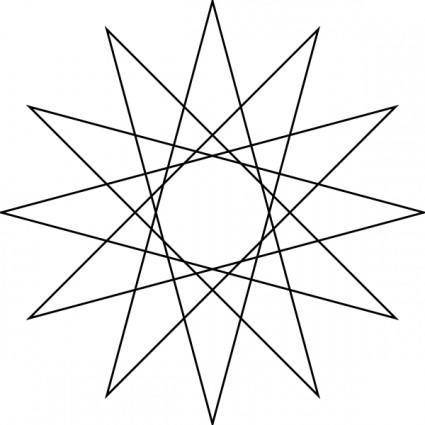 Star Polygon clip art
