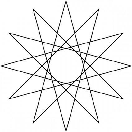 free vector Star Polygon clip art
