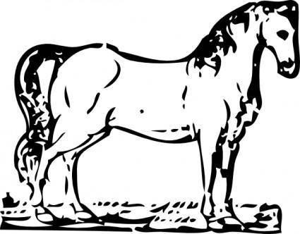 Horse Woodcut clip art