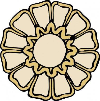 Rosette Ornament clip art