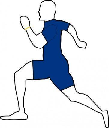 free vector Man Jogging Exercise clip art