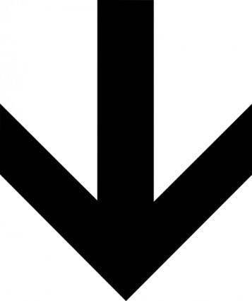free vector Down Arrow clip art