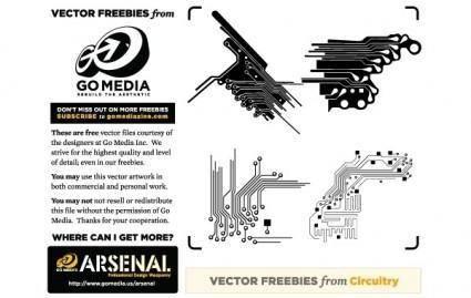 free vector Vector Freebie: Circuitry