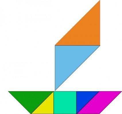 free vector Tangram-34 clip art