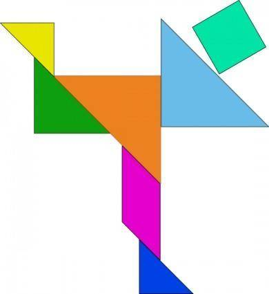 free vector Tangram-09 clip art