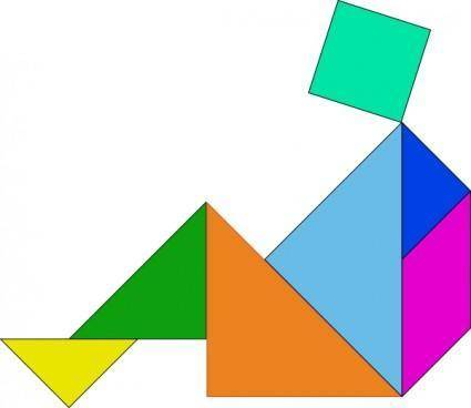 Tangram Blocks Game clip art